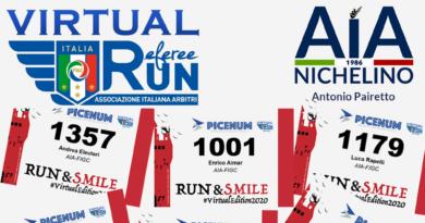 AIA Nichelino corre la Virtual RefereeRun per l'AIL